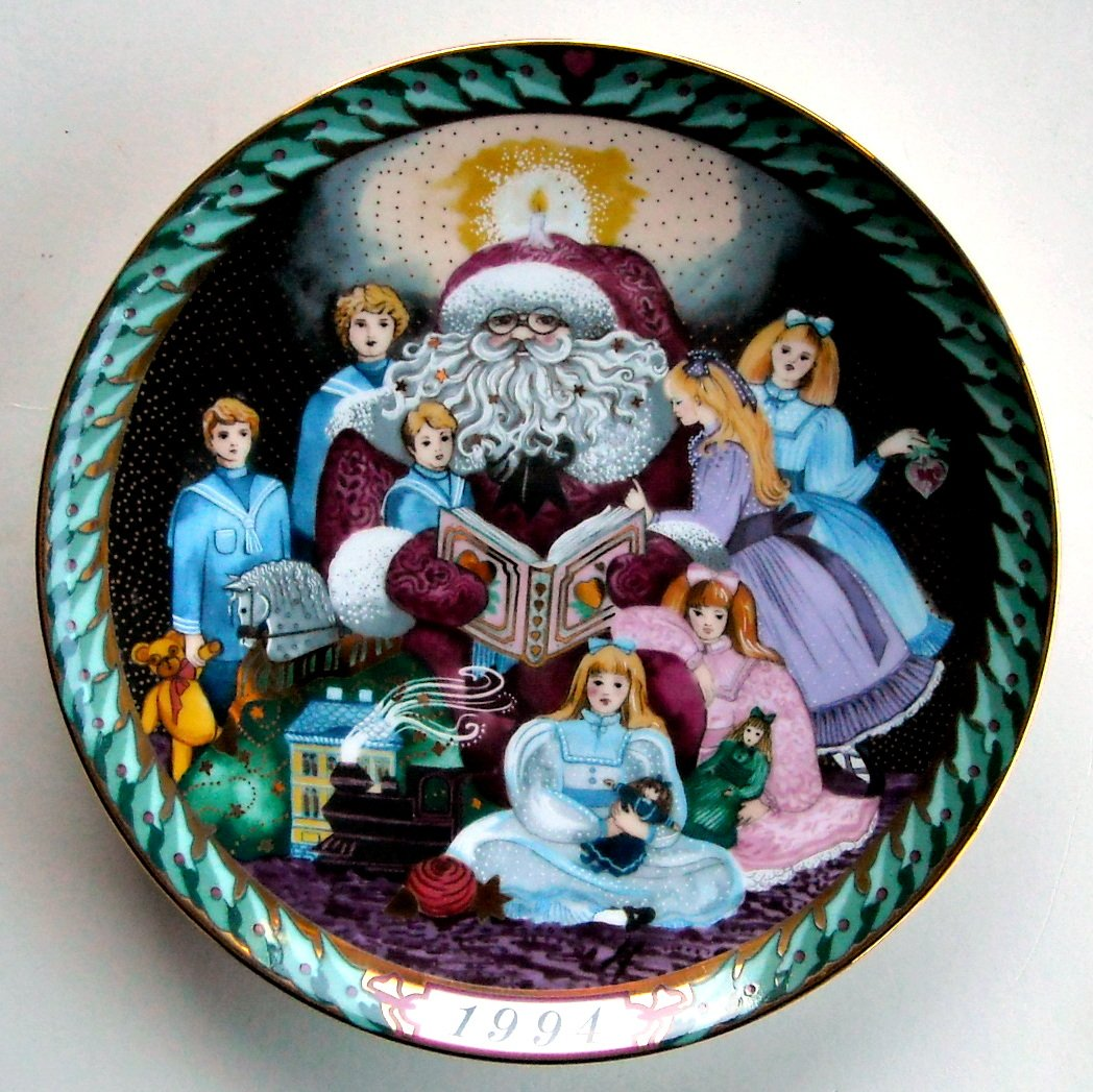 Danish Bing Grondahl Santa Claus Collection Christmas Stories Plate 1994