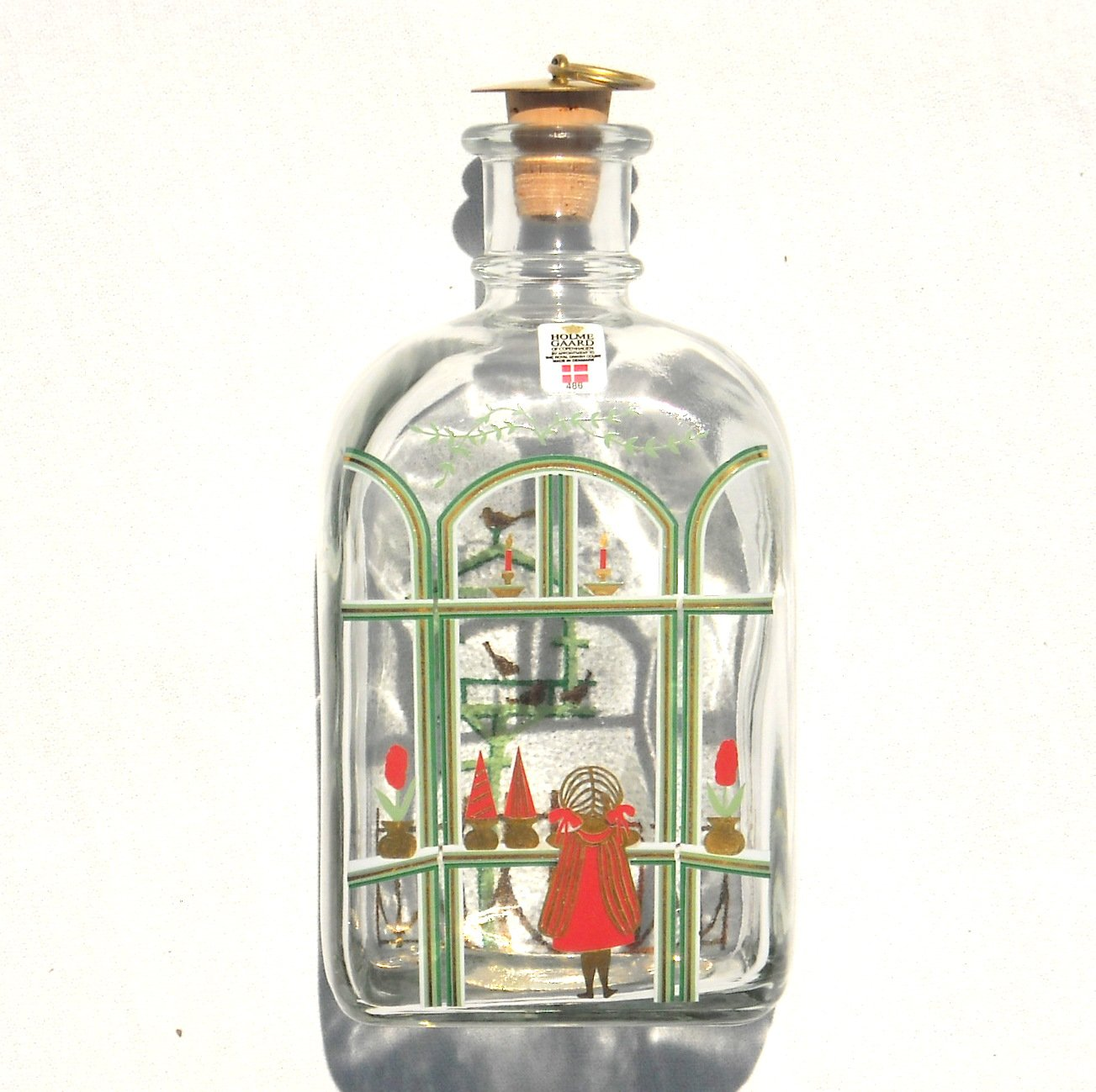 Holmegaard Danish Royal Copenhagen Christmas Bottle 1987