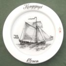 Holmegaard Copenhagen Kings Yacht Eagle Milk Glass Ships Plate 1977