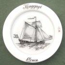 Holmegaard Copenhagen Kings Yacht Eagle Milk Glass Ships Plate 1977