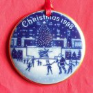Bing & Grondahl Copenhagen Christmas America Rockefeller Center ornament 1988
