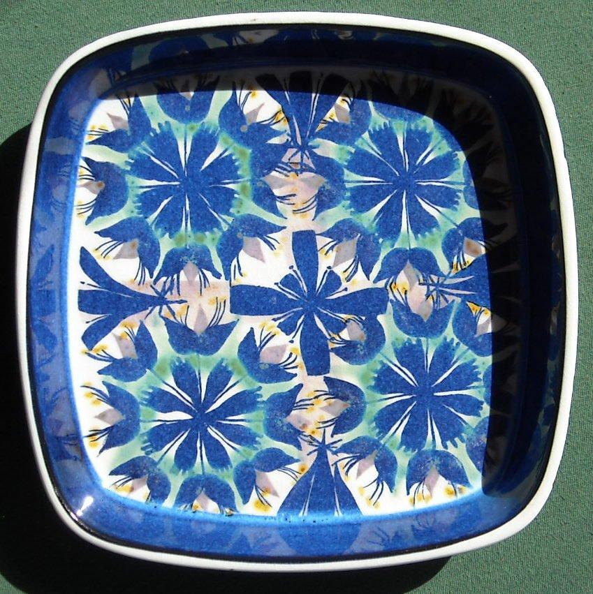 Vintage Danish Aluminia Copenhagen blue fajance Tenera bowl 2883