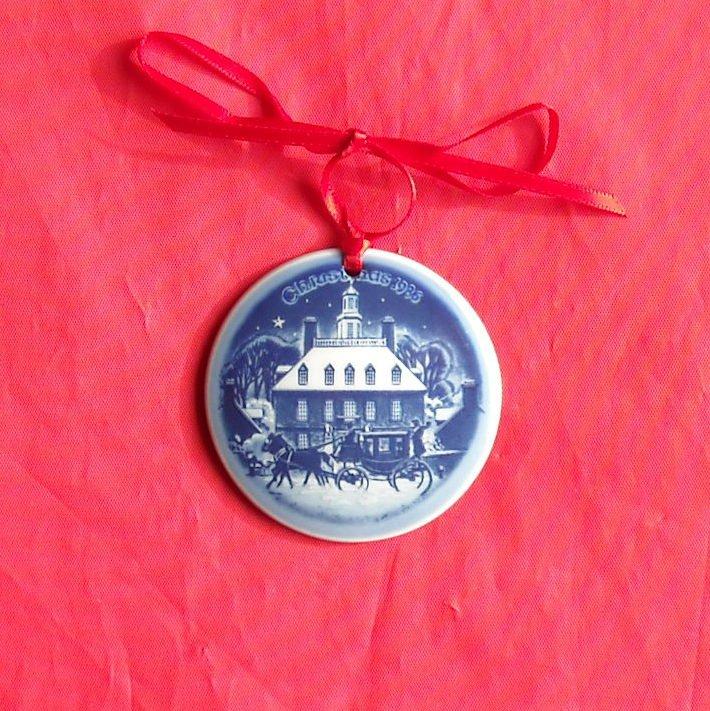 Bing & Grondahl Copenhagen Denmark Christmas In America Ornament 1986