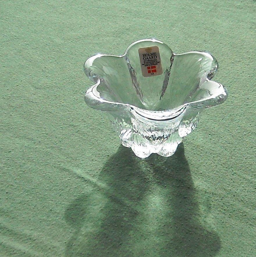 Danish Royal Copenhagen Holmegaard crystal multi bowl small