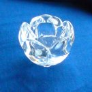 Danish Royal Copenhagen Holmegaard crystal Lotus flower candle holder