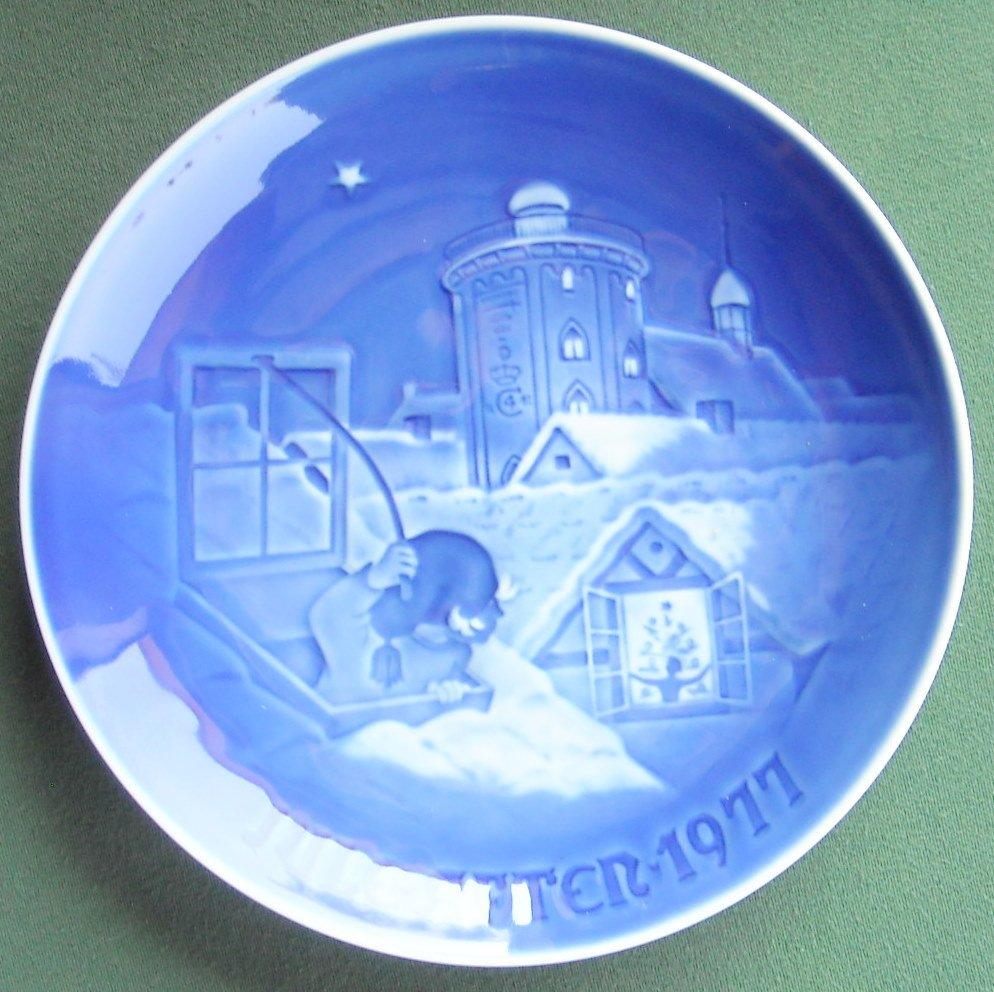 Danish Bing & Grondahl Copenhagen Christmas Plate 1977