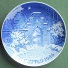 Bing & Grondahl Copenhagen Sollerod Kirke Christmas Plate 1986