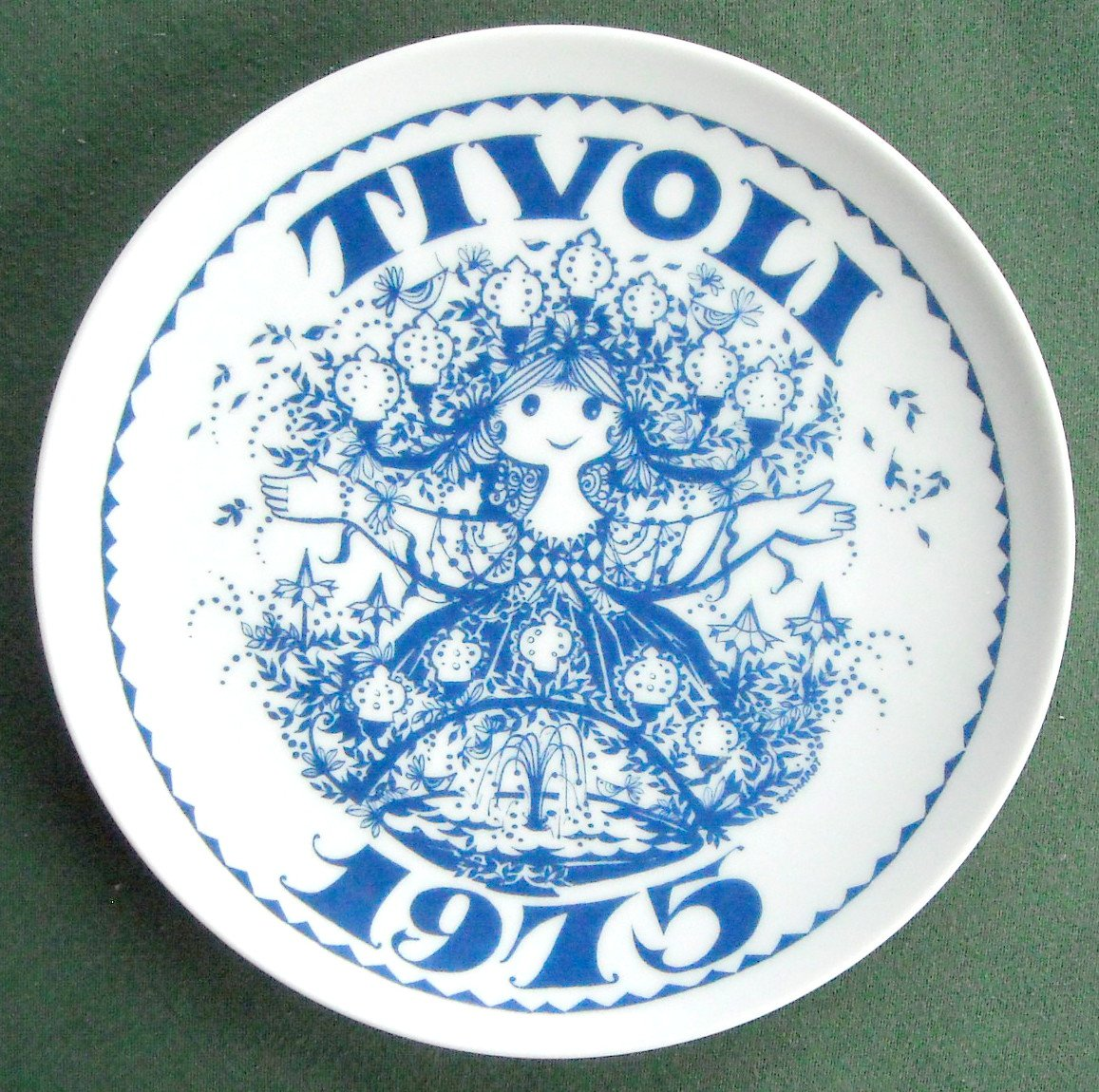 Danish Tivoli Denmark Plate TIVOLI KUPLEN 1975