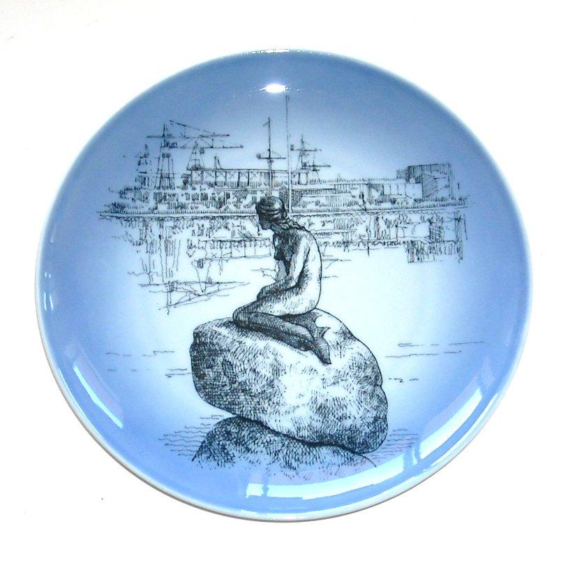 Little Mermaid Bing & Grondahl Copenhagen Denmark Porcelain Plate