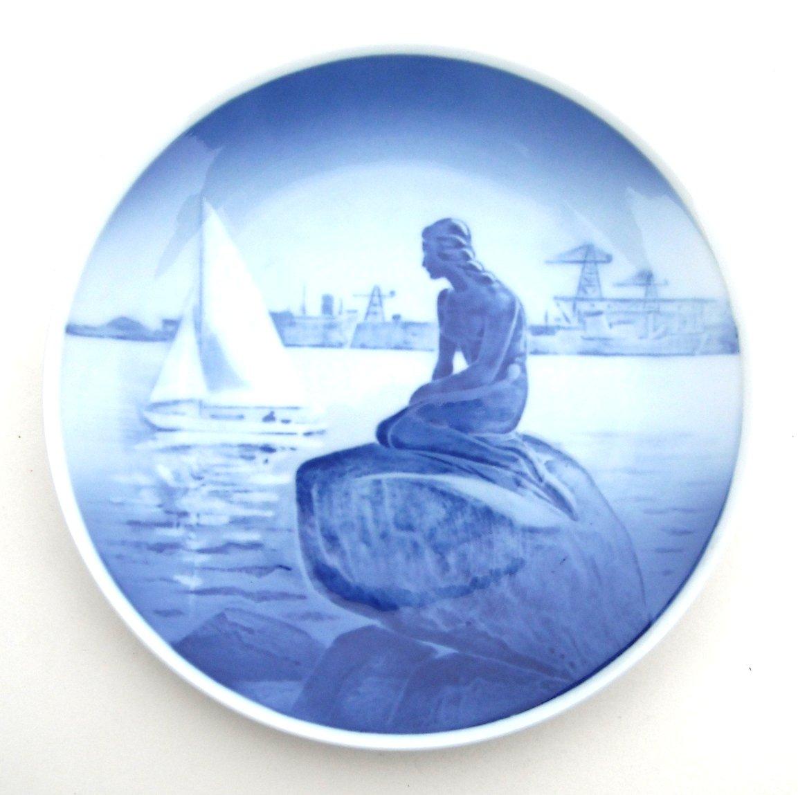 Royal Copenhagen Denmark Vintage Rare Large Mermaid Plate