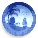 Royal Copenhagen Denmark James Cook Hawaii 200 Years Plate 1978