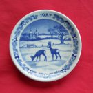 Royal Copenhagen Boxed Christmas Mini Plate 1987