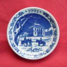 Danish Royal Copenhagen Denmark christmas mini plate ornament 1991