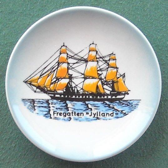 Fregatten Jylland Søholm Pottery Denmark Small Plate