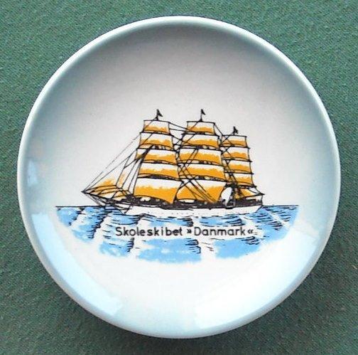 Skoleskibet Danmark Vintage Danish Søholm Copenhagen Small Plate
