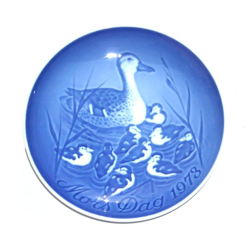 Danish Bing & Grondahl Copenhagen Duck With Ducklings Mothers Day Plate 1973