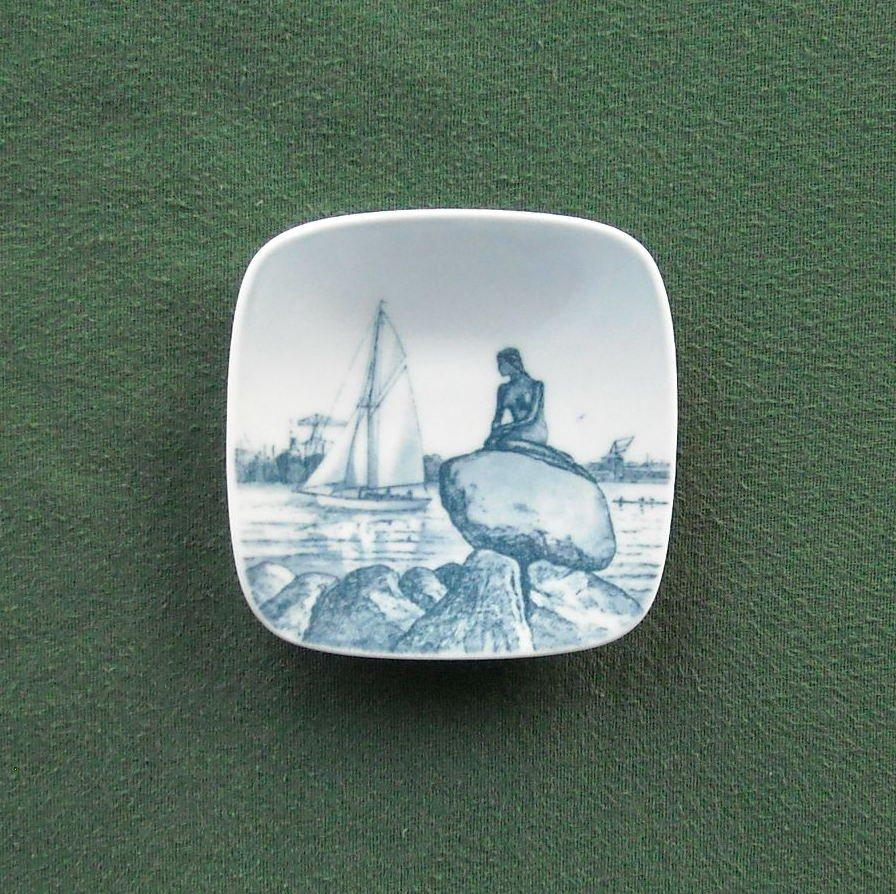 Bing & Grondahl Copenhagen Denmark Langelinie Little Mermaid Small Plate Ornament
