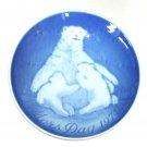 Bing Grondahl Copenhagen Bear Cubs Mothers Day Plate 1974