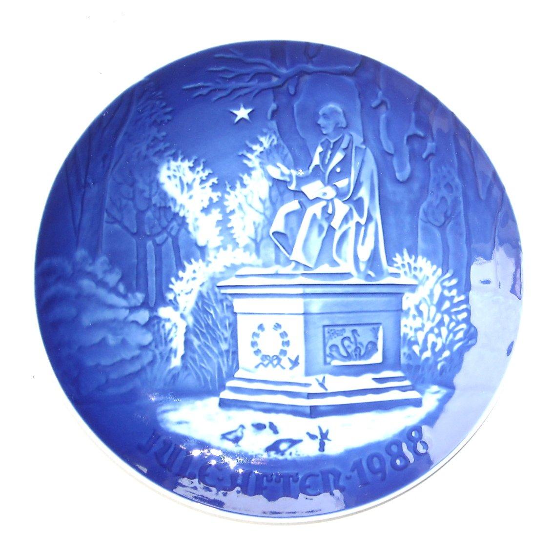 Bing Grondahl Denmark Hans Christian Andersen Christmas Plate 1988