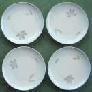 Lot of 4 Bing Grondahl Copenhagen Falling Leaves Blue 7 Inch Plates