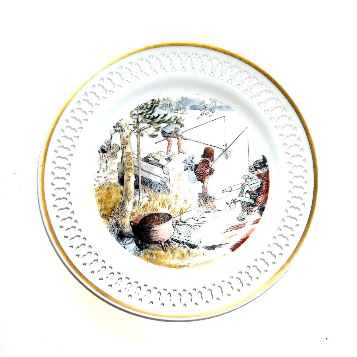 Carl Larsson Bing Grondahl Krebsefangst No 9 Plate