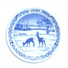 Royal Copenhagen 1987 Boxed Mini Christmas Plate