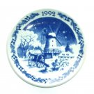 Royal Copenhagen Boxed Mini Christmas Plate 1992