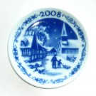 Royal Copenhagen Denmark Small Christmas Plate Ornament 2008