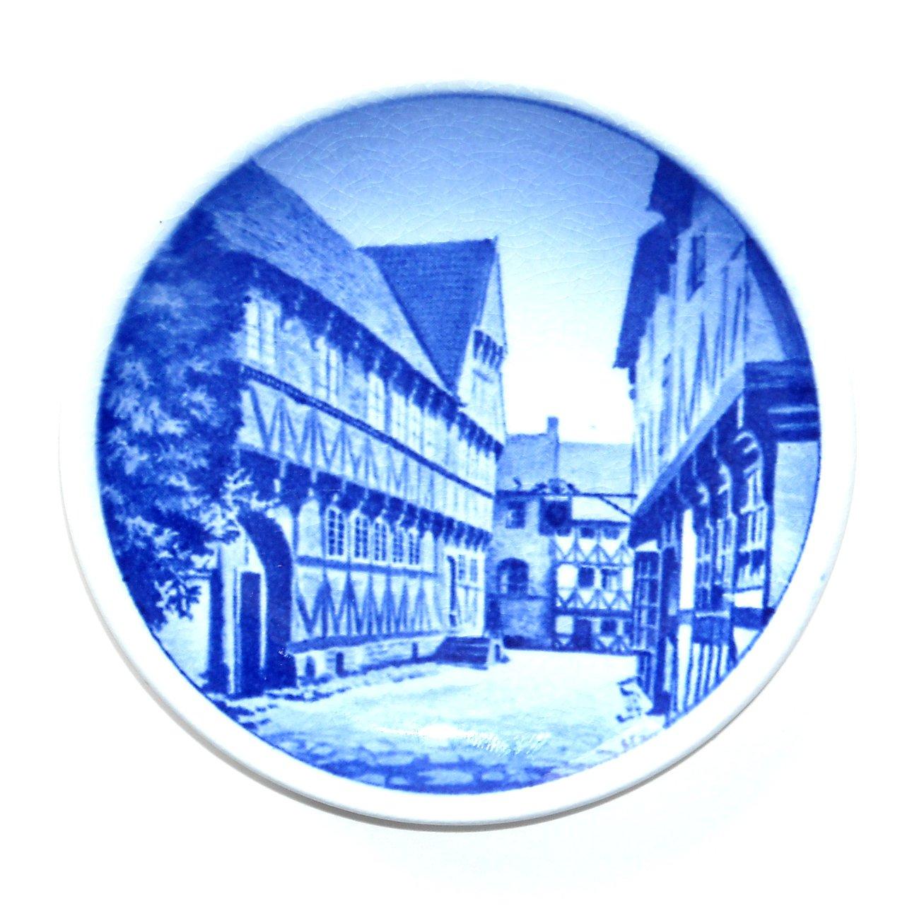 Old Town Aarhus Denmark Aluminia Royal Copenhagen Vintage Mini Plate