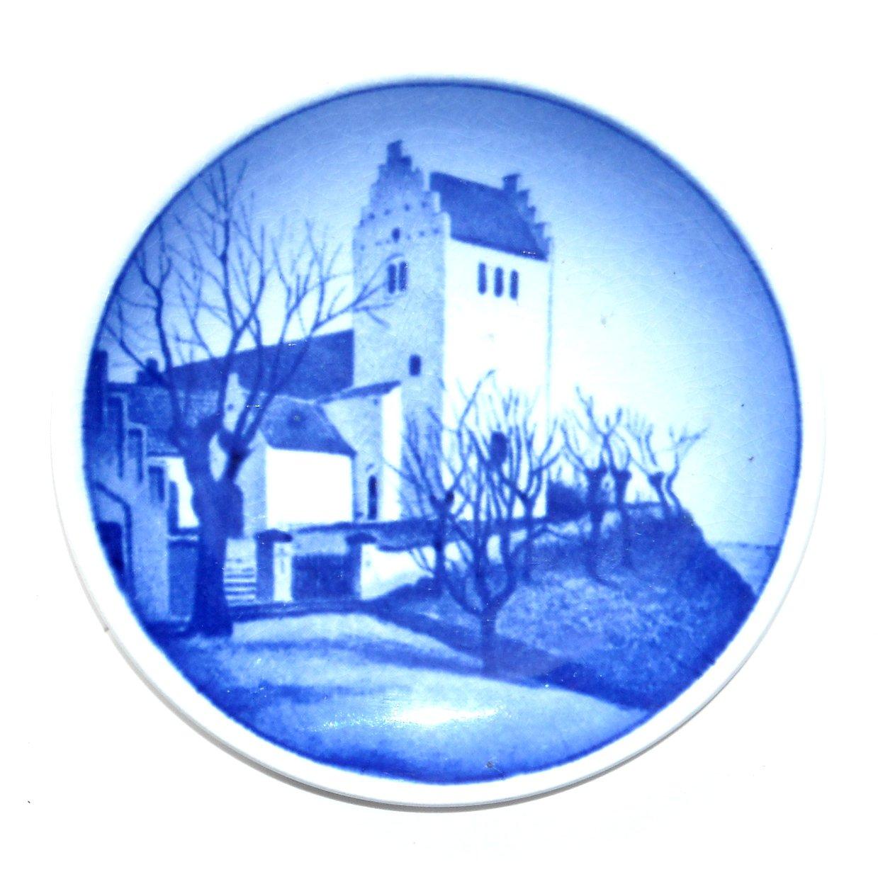 Faarevejle Kirke Denmark Aluminia Royal Copenhagen Vintage Mini Plate