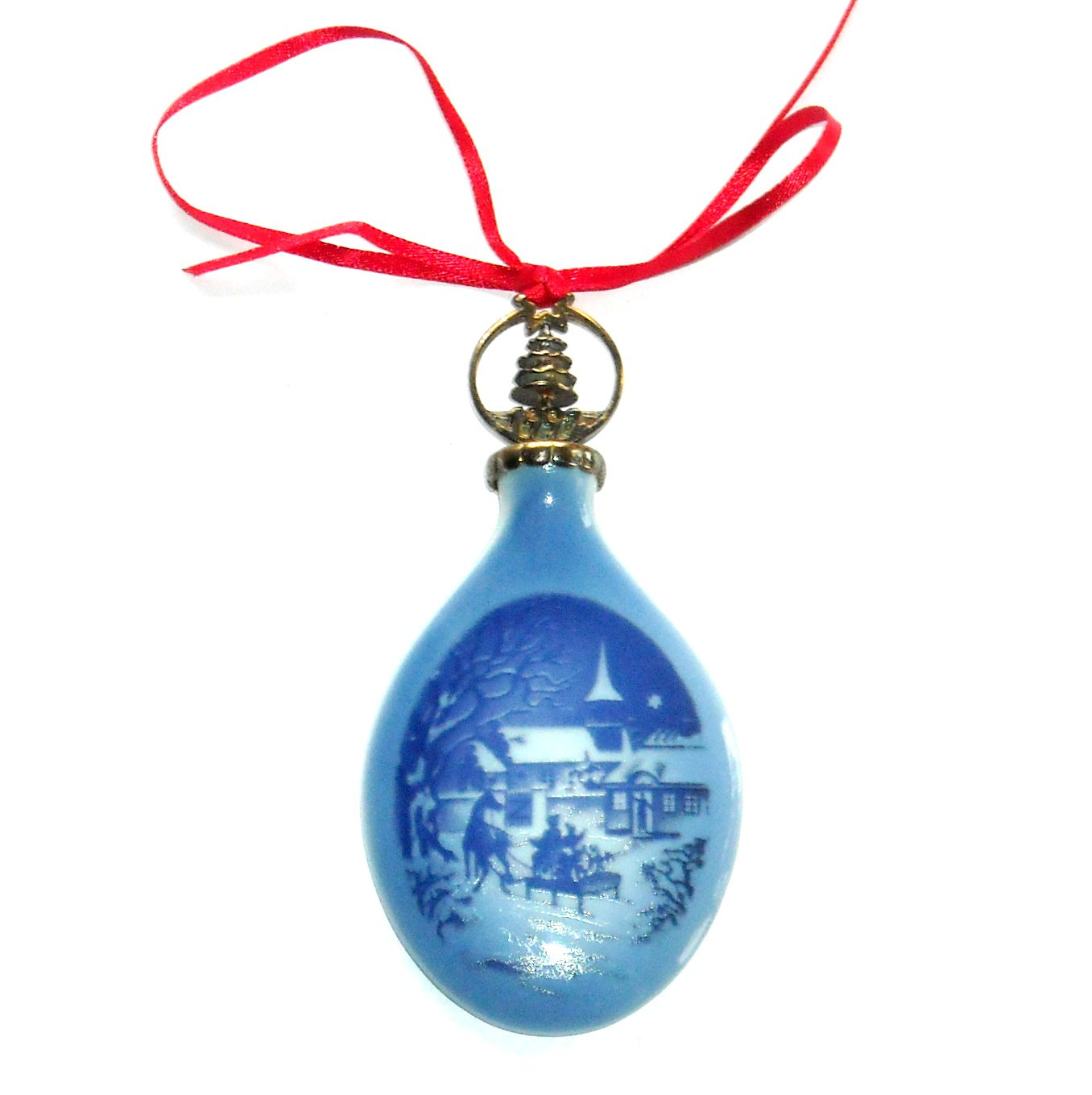 Bing & Grondahl Copenhagen Denmark 1992 Christmas Drop Ornament