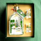 Holmegaard Danish Royal Copenhagen Christmas Bottle and Dram Glasses 1996
