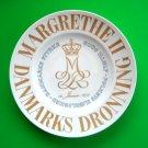 Margrethe II Denmark Bing & Grondahl Copenhagen Gold Plate