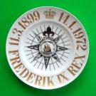 King Frederik IX Denmark Bing & Grondahl Copenhagen Gold Plate 1972