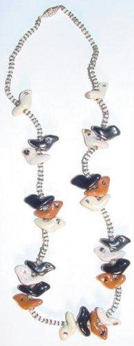 Vintage 1980s Santo Domingo Native American Birds Fetish Necklace