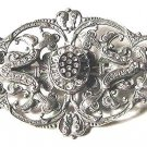 Fancy Sterling Cutout Brooch