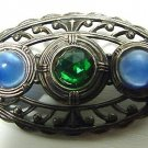 Art Deco Sterling And Stones Brooch