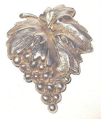 Victorian Sterling Silver Large Grapes Bunch Brooch