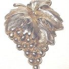 Victorian Sterling Grapes Bunch Brooch