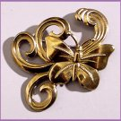 1940s Retro Large Brass Butterfly Brooch
