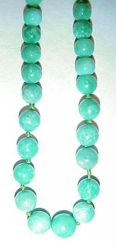 High Quality Antique Amazonite Bead Necklace