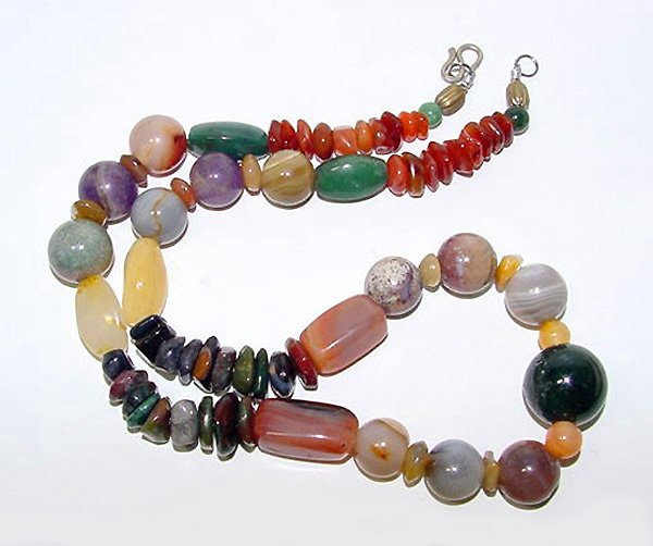 Colorful Multistone Semiprecious Beads Necklace