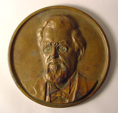 Bronze Plaque of Candy Man Henry Heide