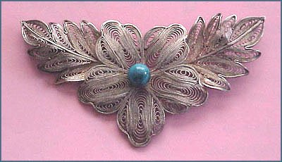 Fine Antique Chinese Filigree Brooch