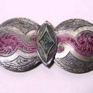 Fancy Tinted Antique Victorian Buckle - Free USA Shipping