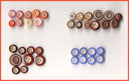 Colorful Lof of 38 Antique China Buttons - Sold