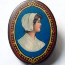 Antique Cocoa Advertising (Chocolate Girl) Pinback