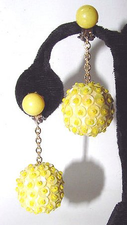 1960s Sequined Go-Go Earrings - Free USA Shipping