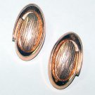 Signed Renoir Modernist Copper Clip Earrings
