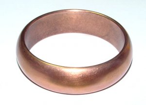 Double Walled Large Vintage Copper Bangle - Free USA Shipping